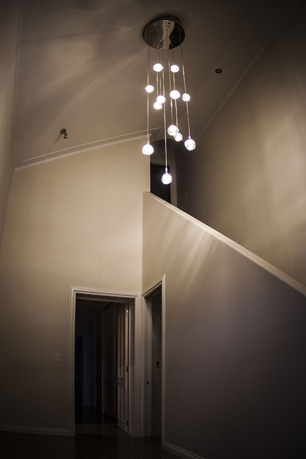 Mt Barker home hanging lights in Wanaka