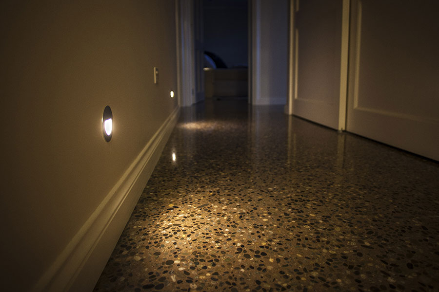 Floor lighting inside Wanaka Mt Barker home